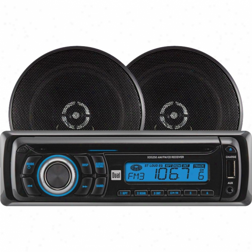 Dual Car Cd Receiver & Speaker Pack