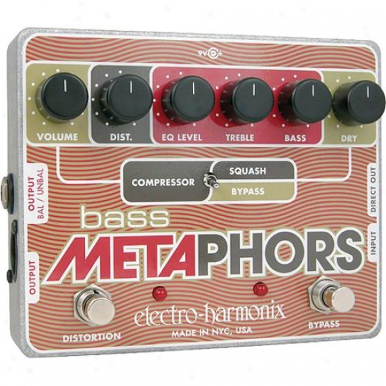 Electro-harmonix Bass Metaphors - Preamp/eq/distortion/compressor/di Multi-effec