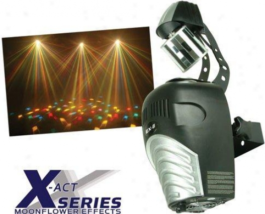 Eliminator Barrel Moonflower Pro Dj Light W/multi-colored Beams, Sound Activated