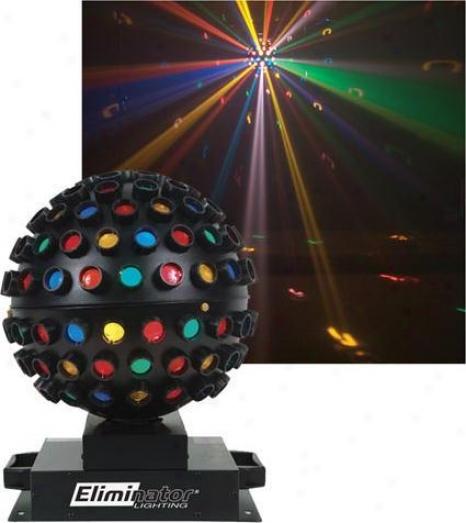Eliminator Lighting System W/multi-colored Rotating Ball Ef fect