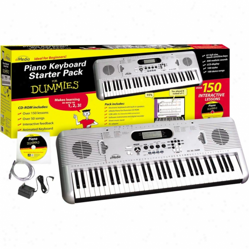 Emedia Piano Keyboard Starter Pack For Dummies - Fd05107