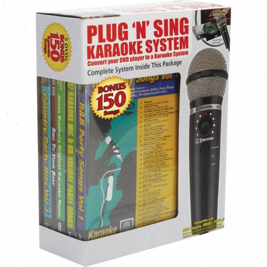 Emerson Karaoke Plug N Play Karaoke Microphone
