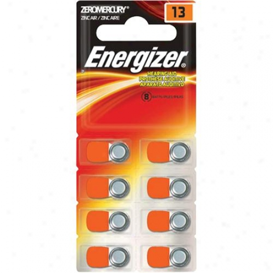 Energizer 13-size Hearing Aud Batteries - 8 Bundle