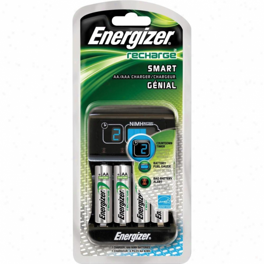 Energizer Aa/aaa Charger And Battery Kit Chp4wb4