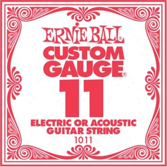 Ernie Ball Eb1011 Single Sgeel Acoustic Electric Guitar String - .011 Gauge