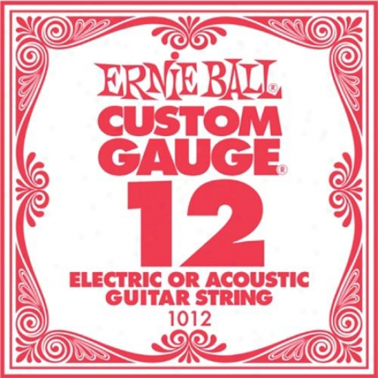 Ernie Ball Eb1012 Single Acoustic Electric Armor Guitar String - .012 Gauge