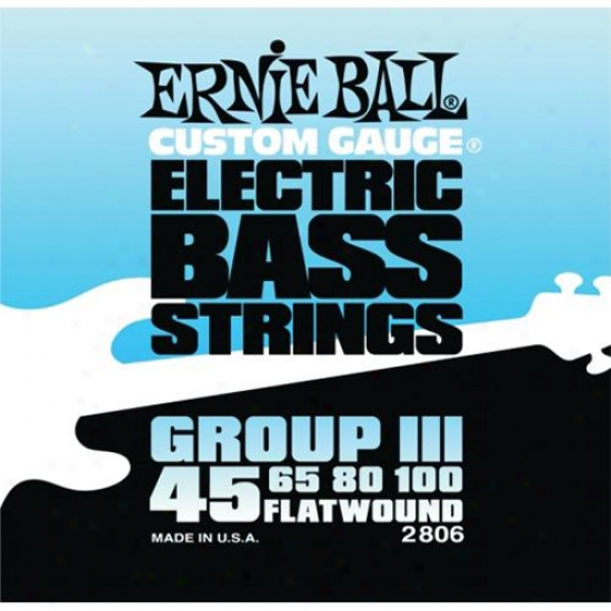 Ernie Ball Eb2806 Flatwound Custom Gauge Electric Bass Strings