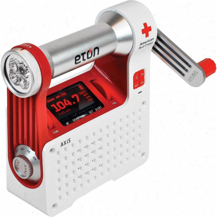 Eton American Red Cross Central line Weather Radio Flashlight Cell Phone Charger