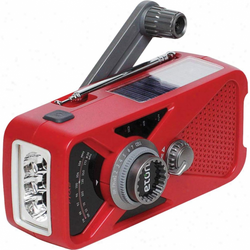 Eton American Red Cross Fr-x2 Hand Turbine Noaa Am/fm Weather Alert Radio