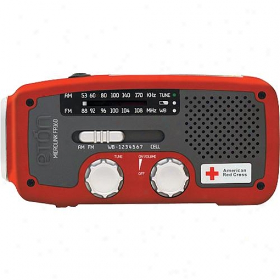 Eton American Red Crooss Microlink Fr160 Emergency Radio - Red