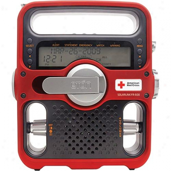 Eton American Red Cross Solarlink Fr600 Emergency Radio - Red