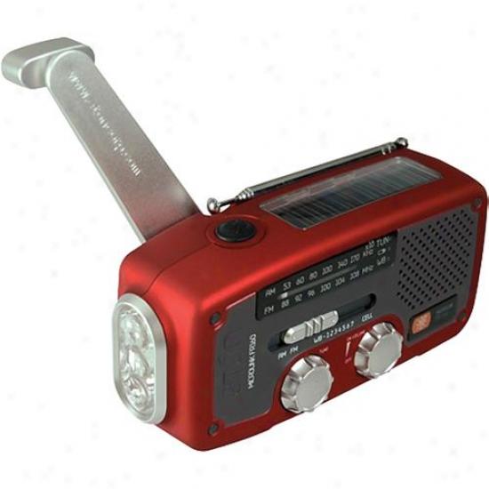 Eton Solar Dynamo Powerec Radio Red