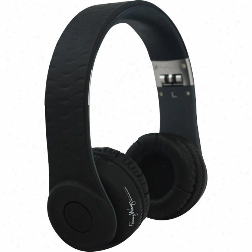 Fanny Wang Fw-1003-blk On-ear Luxury Headphones With Integrated Remote - Wicked