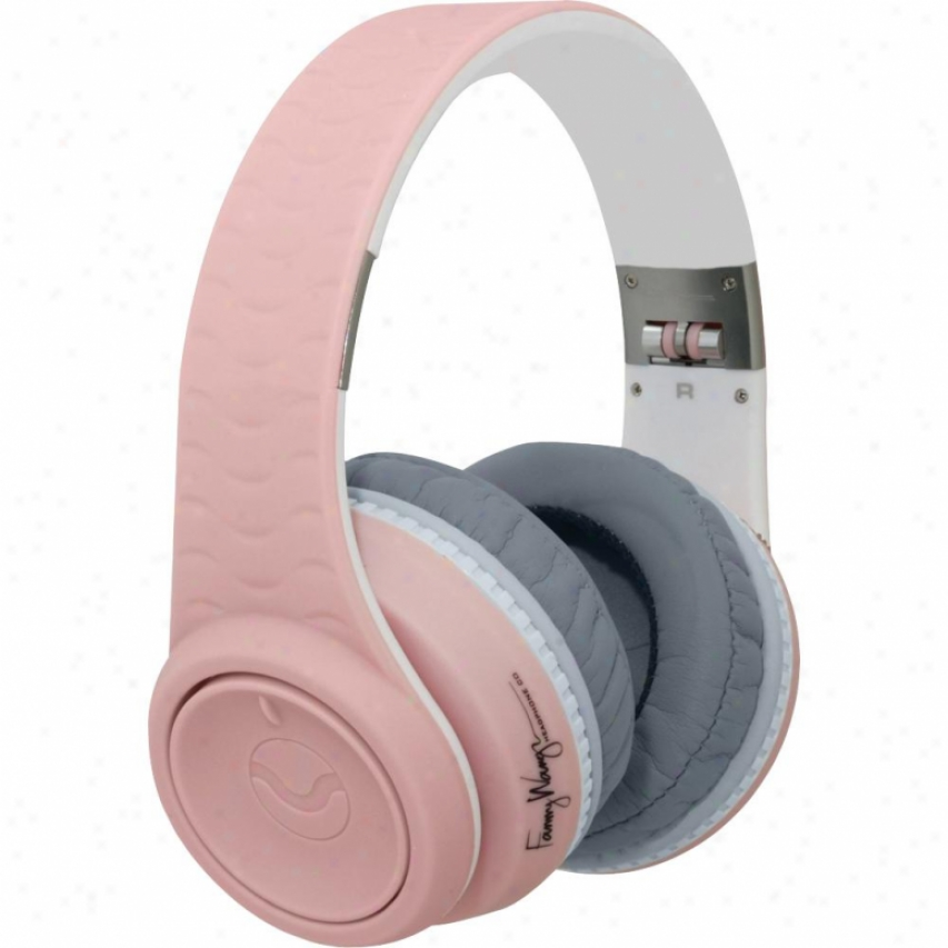 Fanny Wang Over Ear Headphones With Apple Remote & Mic Fw2003pnkwhi-pink/white