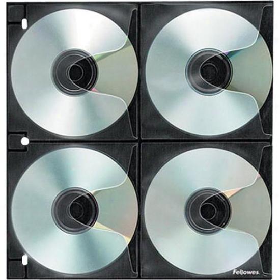 Fellowes 4x4 Dvd/cd Binder Sheet - 25 Pack