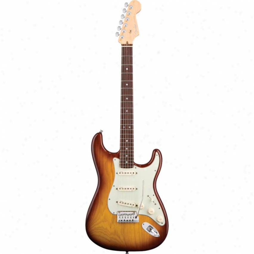 Fender® 011-9300-752 American Deluxe Stratocaster Guitar - Tobacco Sunburst