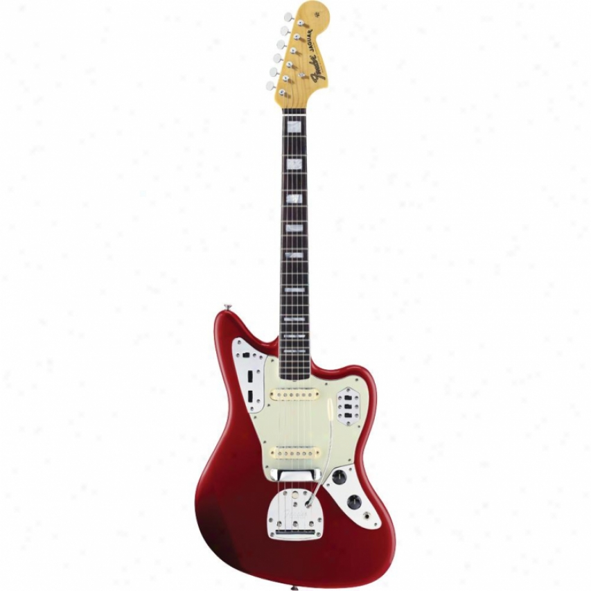 Fender® 017-0084-809 50th Anniverxary Jaguar Marked by ~ity Guitar - Red