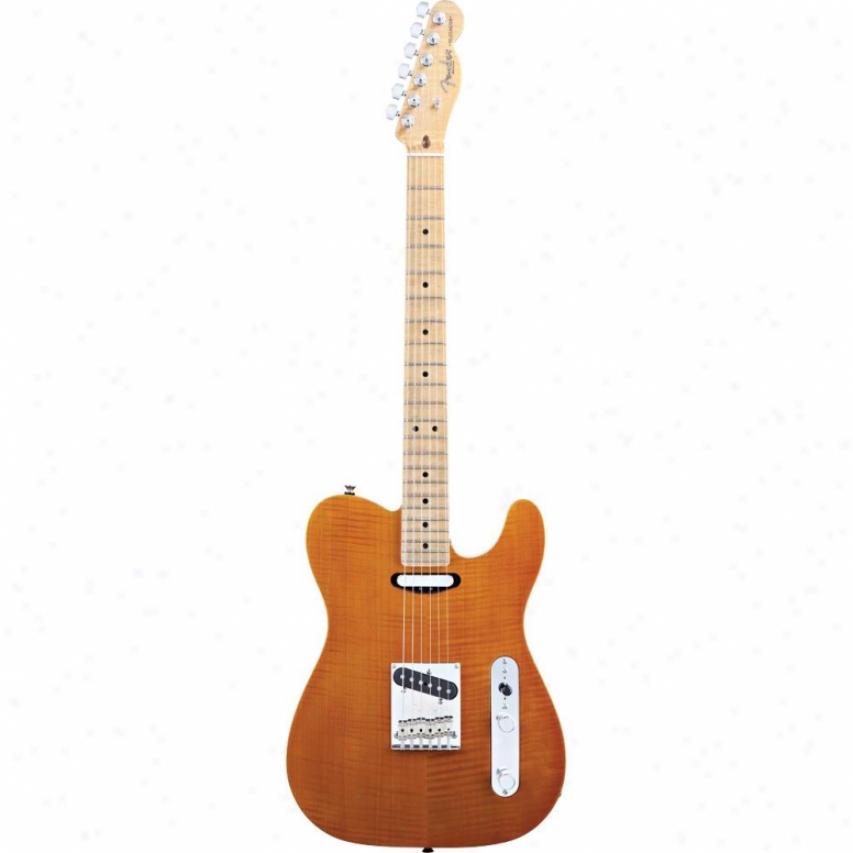Fende® 017-0305-720 Selec tCarved Koa Chief Telecaster® Electric Guitar