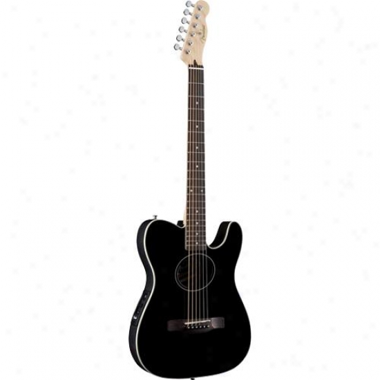 Fender® 096-7310-006 Telecoustic? Guitar - Black