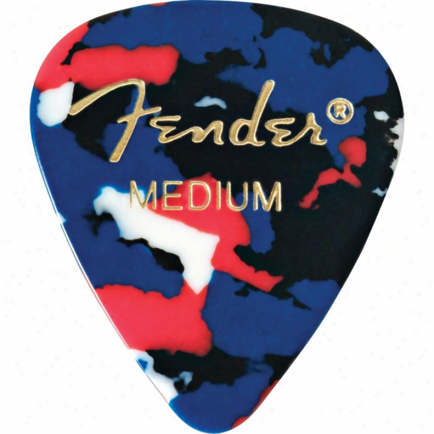 Fender® 098-0351-850 Medium Guitar Picks - Confetti