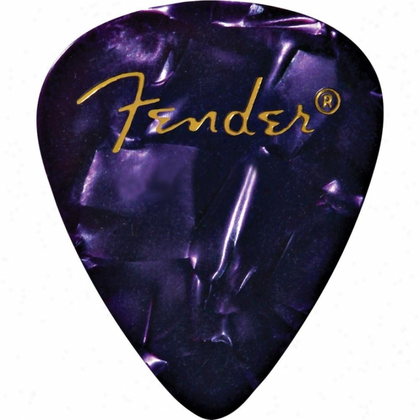 Fender® 0980351976 351 Shape Premium Celluloid Guitar Pickpack - Purple Moto