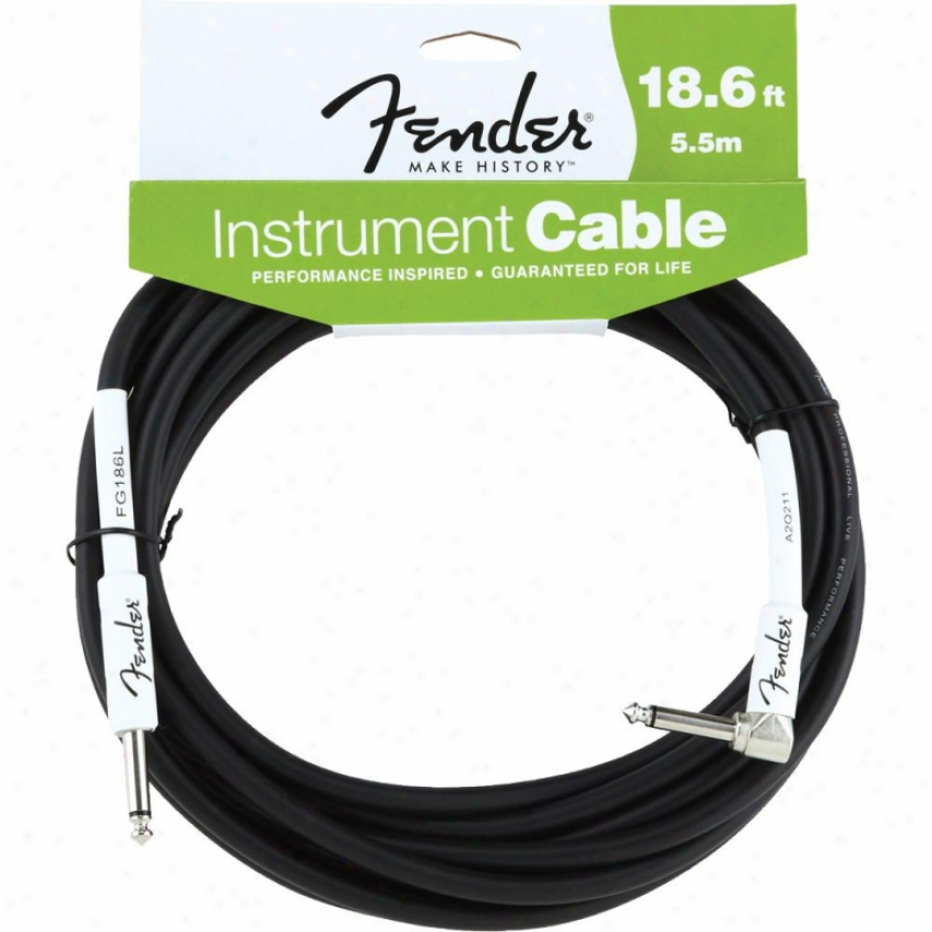 Fendef® 18.6-feet Angle Instrument Cable - Black - 099-0820-008