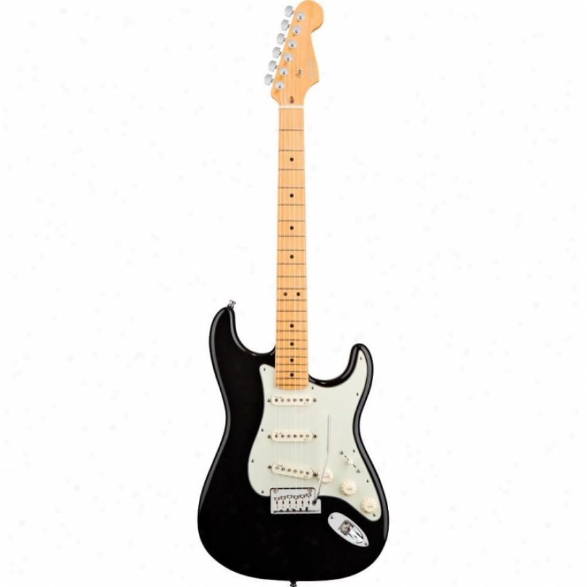 Fender® American Deluxe Stratocaster V Neck Maple Guitar - Black
