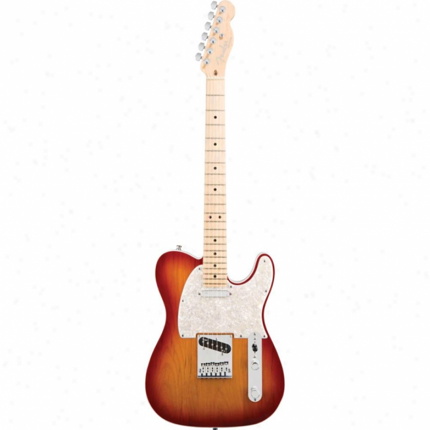 Fender® American Deluxe Telecaster® Maple Guitar - Aged Cherry Burst