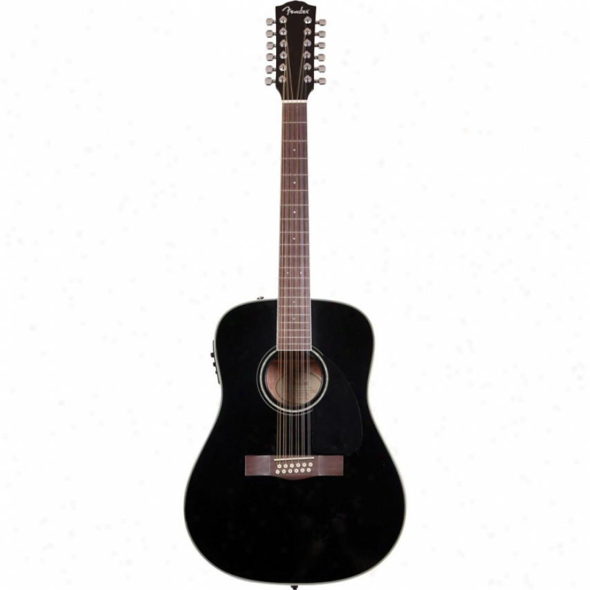 Fender&ret; Cd-160 Se-12 String Acoustic Guitar - Black - 096-1522-006