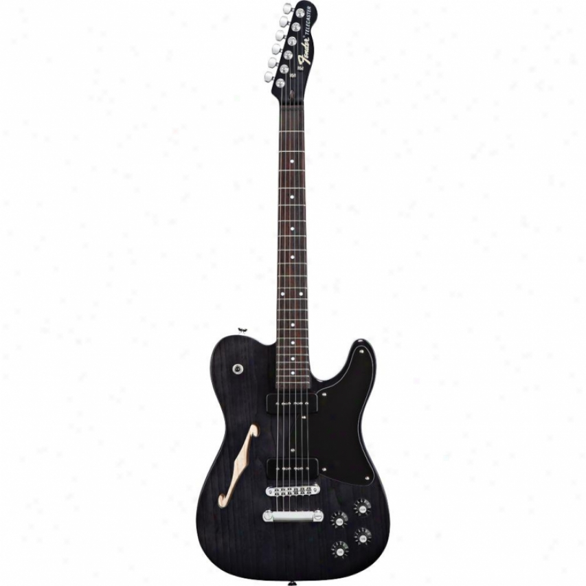 Fender® Jim Adkins Ja-90 Telecaster® Thinline Guitar - Ebony Transparent