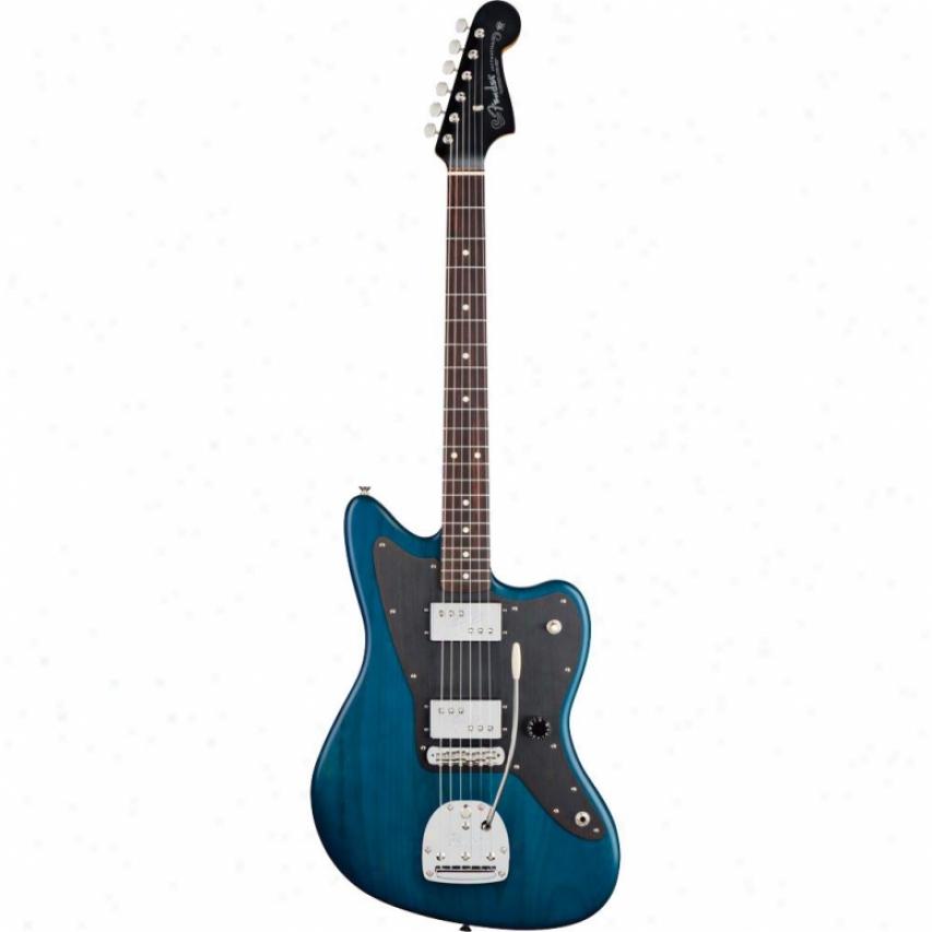 Fender® Lee Ranaldo Jazzmaster® Guitar - Sapphire Blue Transpardnt - 011