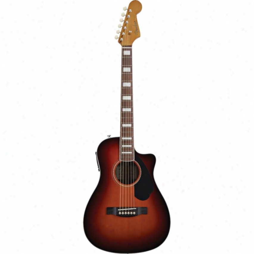 Fender® Malibu Sce Acoustic Guitar - 3-color Sunburst - 096-8004-021