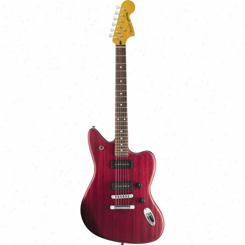 Fender® Modern Playef Jaguar 0241300538 - Red Transparent