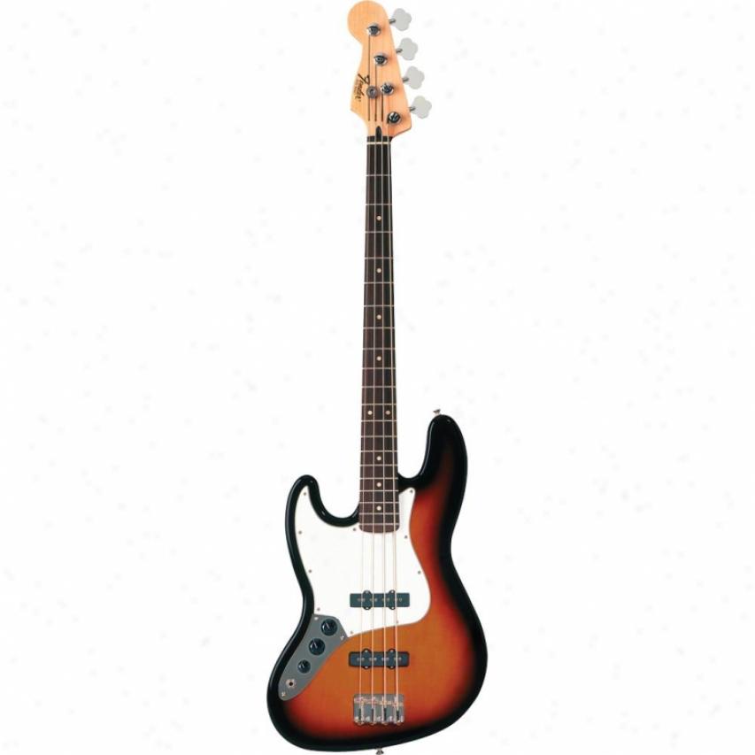 Fender® Standard Jazz Bass® Left Handed Guitar - Brown Sunburst Rosewood