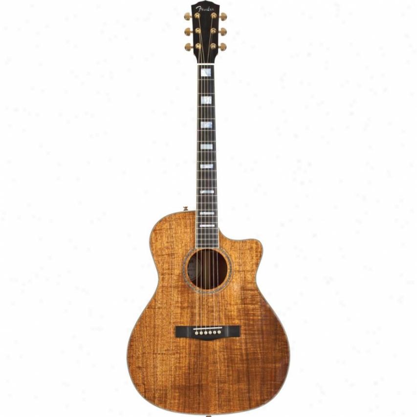 Fender® Usa Select Classic Koa Auditorium Cutaway Acoustic Guitar Limited-ed