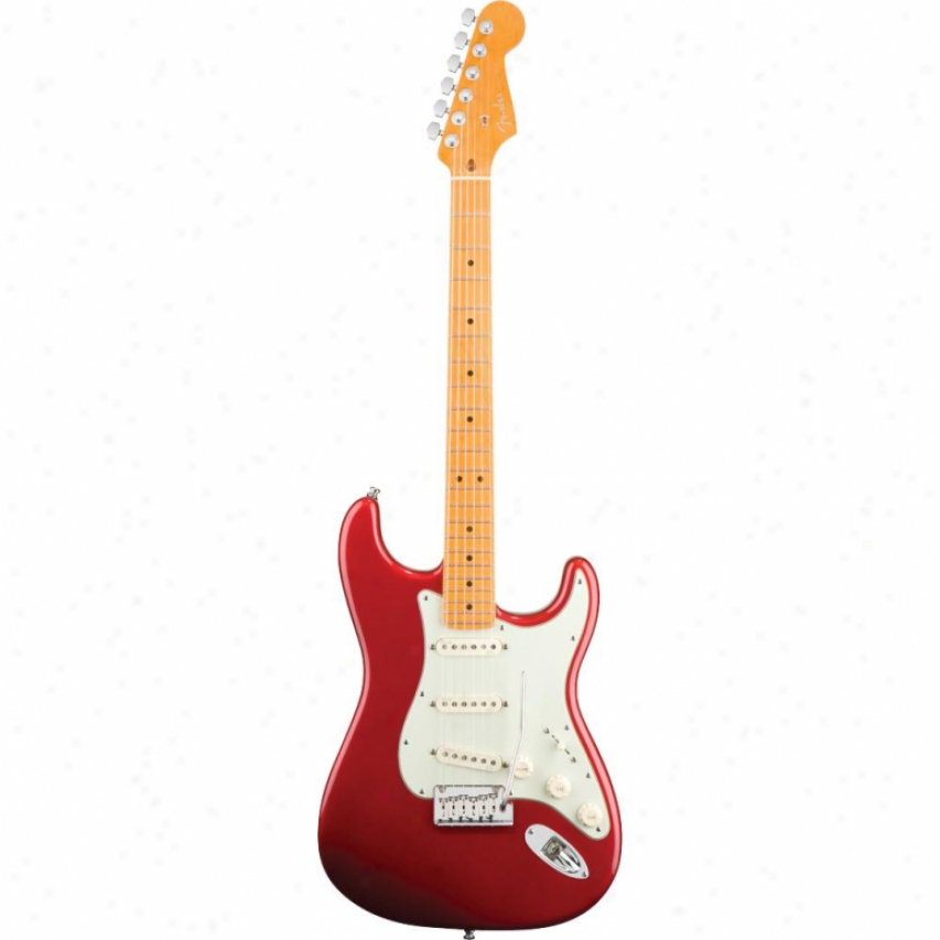 Fender(open Box® American Deluxe Stratocaster V Neck Maple Guitar - Candy Ap