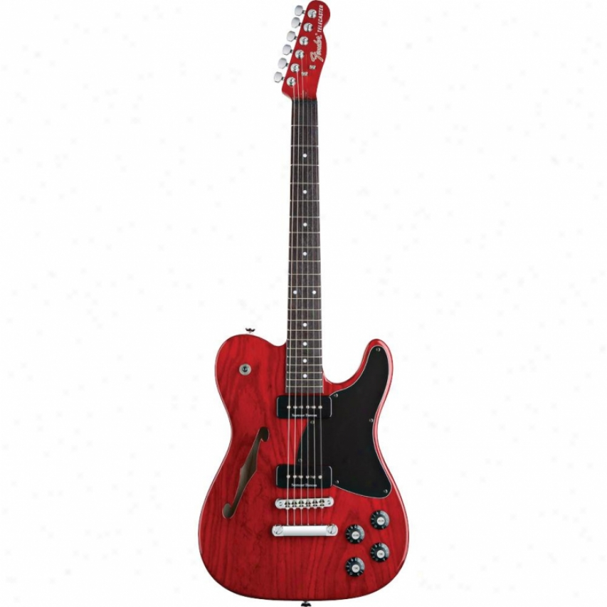 Fender(open Box® Jim Adkins Ja-90 Telecaster® Thinline- Crimson Red Tran