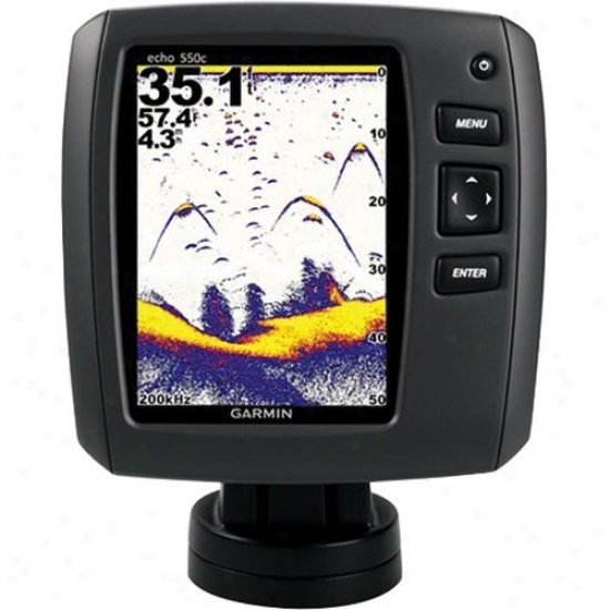 Garmin Echo 550c Premium Hi-res 5-inch Color Dual-beam Fishifnder