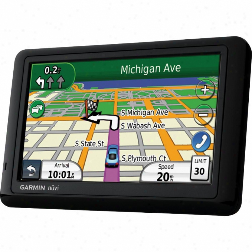 "Garmin Nuvi 1490lmt 5.0"" Gps Navigator - Lifetime Map &am;; Traffic U;dtes"