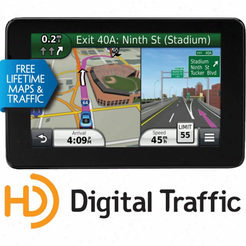 "Garmin Nuvi 3590lmt 5"" Ultra Thin Gps Navigator - Lifetime Map & Traffic Updates"