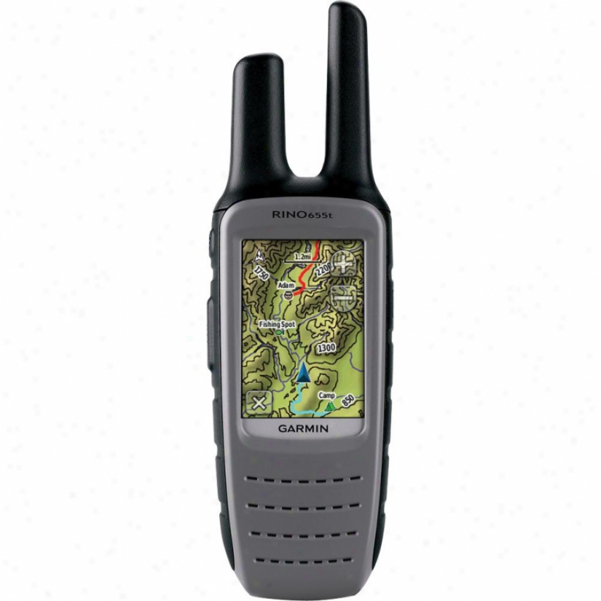 Garmin Rino 655t Rugged Touchscreen Gps & Two Custom Radio