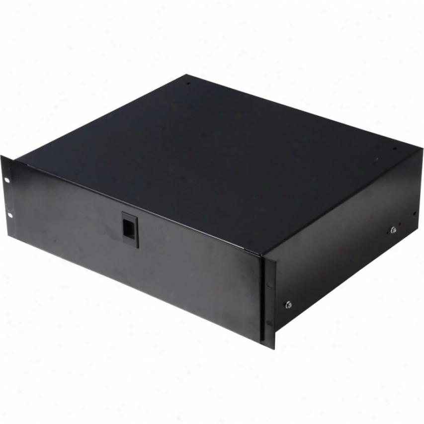 """Gatod Cases Rack Drawer 10"""" Deep 3u Gedrawer3us"""