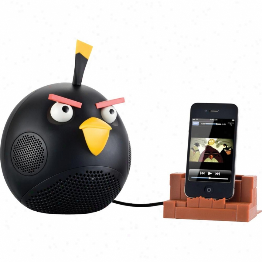Gear4 Angry Birds Speaker Dock - Black Bird Pg542g