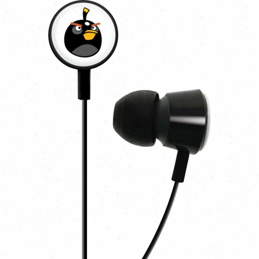 Gear4 Angry Birds Tweeters In-ear Sprout Hedaphones - Black Hab004g