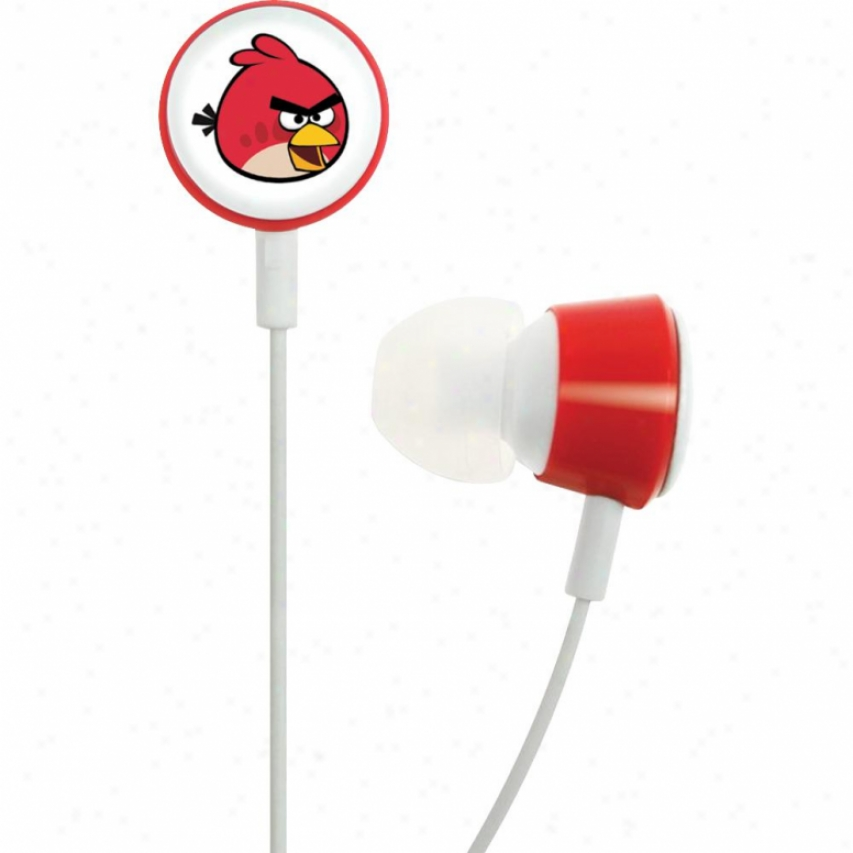 Gear4 Angry Birds Tweeters In-ear Bud Headphones - Red Hab001g