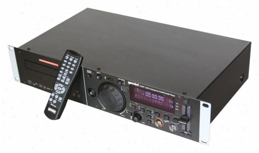 Gemini Cdmp-1300 2u Single Cd/mp3/usb Player