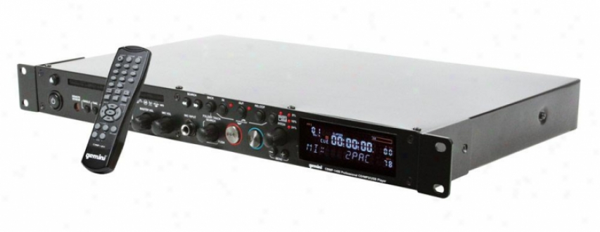 Gemini Cdmp-1400 1u Single Cd/mp3/usb Player