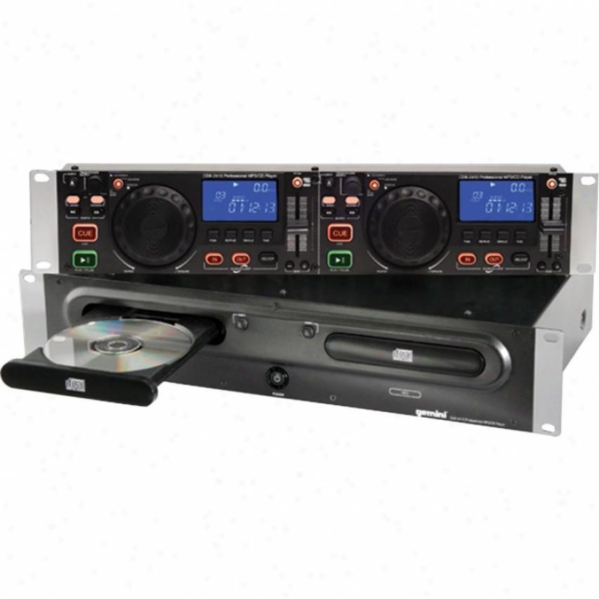Gemini Cdx-2410 2u Dual Mp3/cd Player