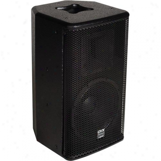 "Gemini Gvx-10p Powered 10"" Speaker - Black Acrylic Lacquer"