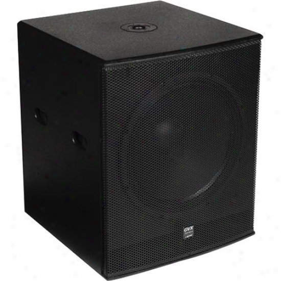"Gemini Gvx-sub18p Powered 18"" Subwoofer - Black Acrylic Lacquer"